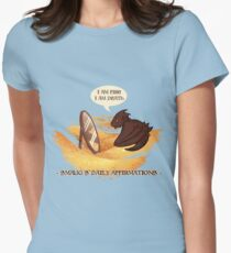 Smaug's Daily Affirmations Womens Fitted T-Shirt