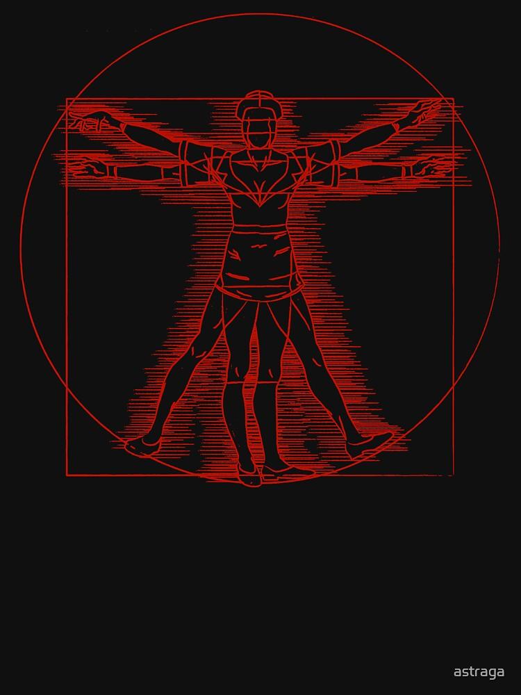 Vitruvian Nurse (red) by astraga