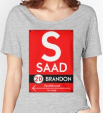 Retro CTA sign Saad Women's Relaxed Fit T-Shirt
