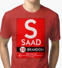 Retro CTA sign Saad Tri-blend T-Shirt