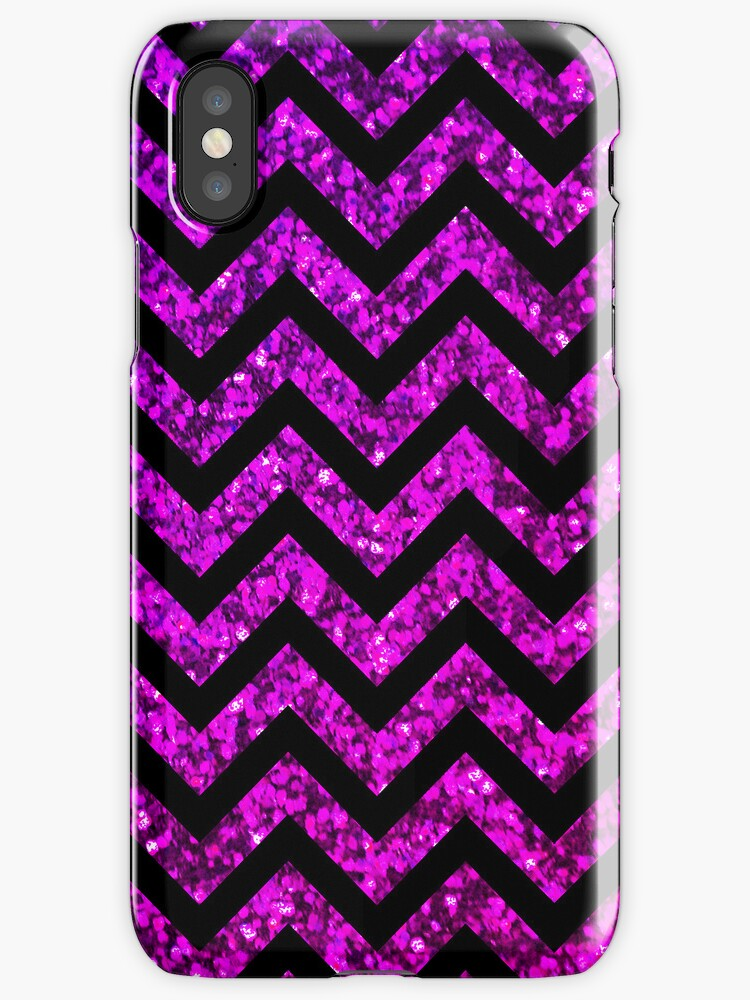 Chevron Purple Sparkle by Mango Tangerine Studio