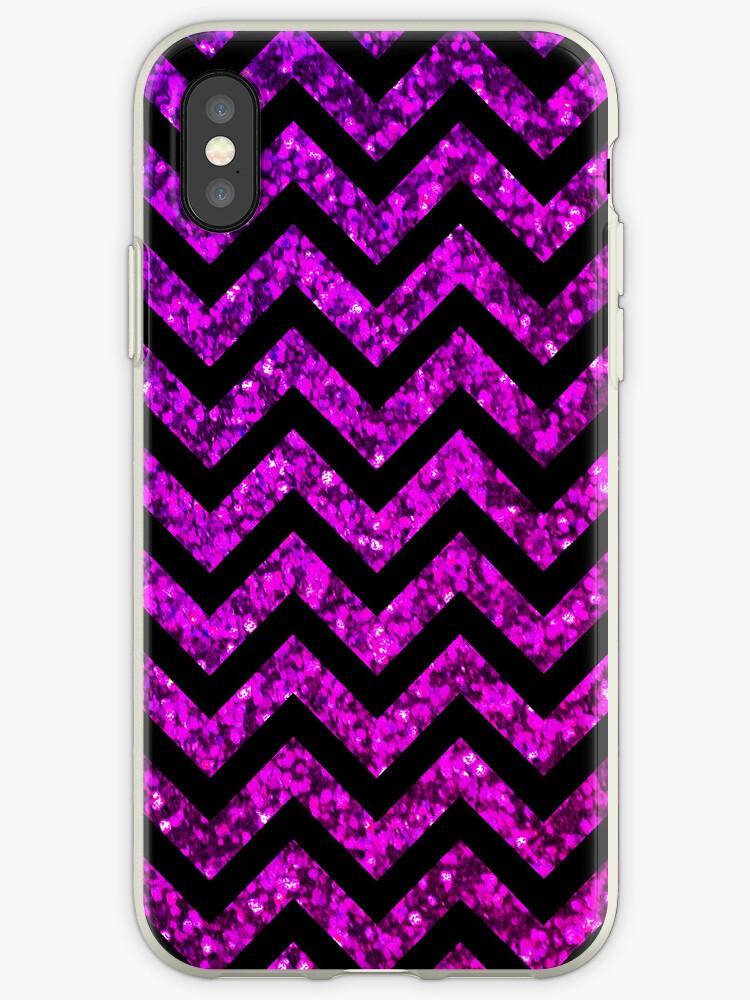 Chevron Purple Sparkle by Mango Tangerine Studio