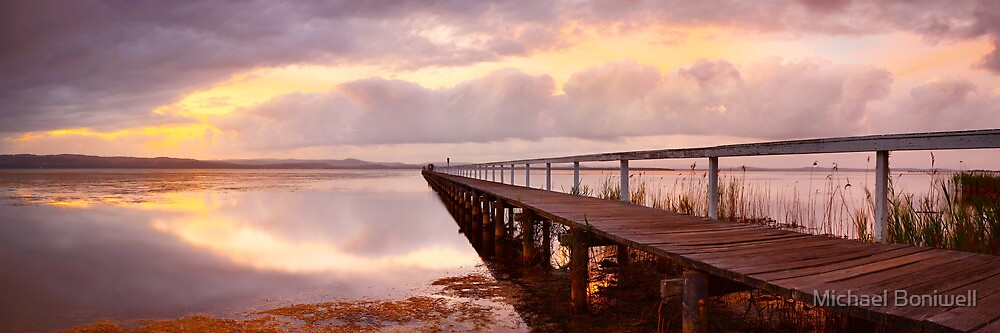 Long Jetty Sunset, New South Wales, Australia by Michael Boniwell