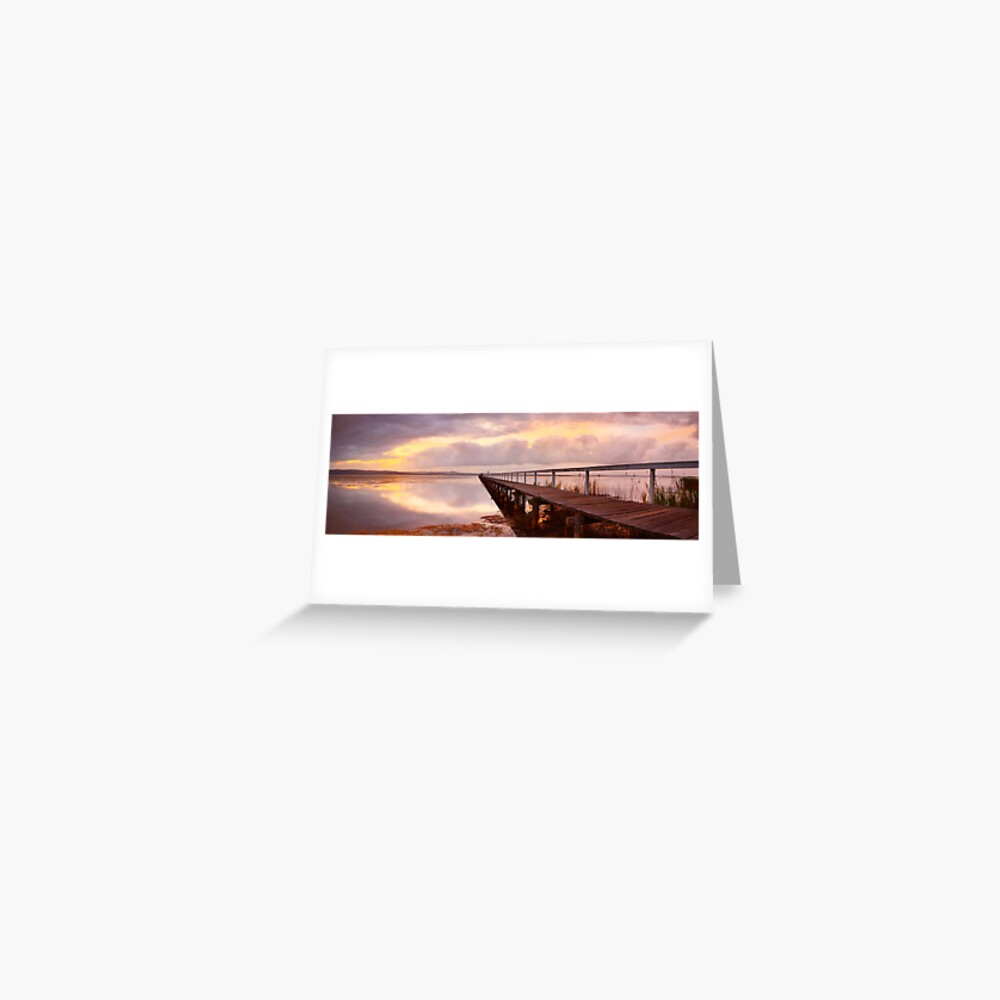 Long Jetty Sunset, New South Wales, Australia Greeting Card