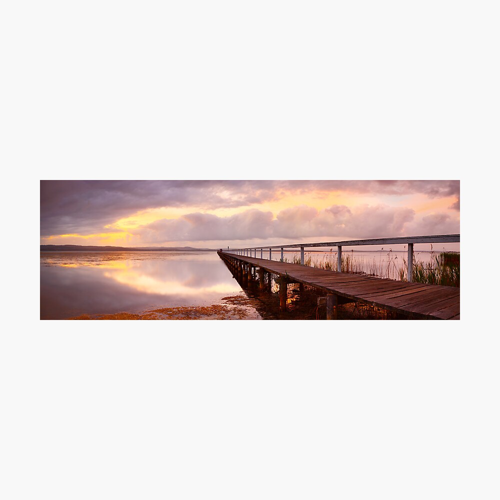 Long Jetty Sunset, New South Wales, Australia Photographic Print
