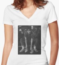 M.Mcfly Women's Fitted V-Neck T-Shirt