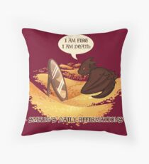 Smaug's Daily Affirmations Throw Pillow