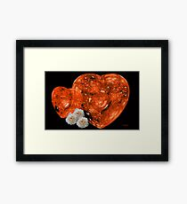 Red Hearts and White Roses Framed Print