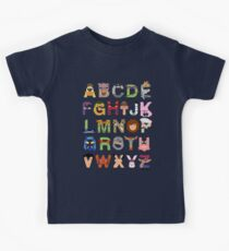 Teenage Mutant Ninja Turtle Alphabet Kids Tee