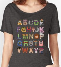 Teenage Mutant Ninja Turtle Alphabet Women's Relaxed Fit T-Shirt