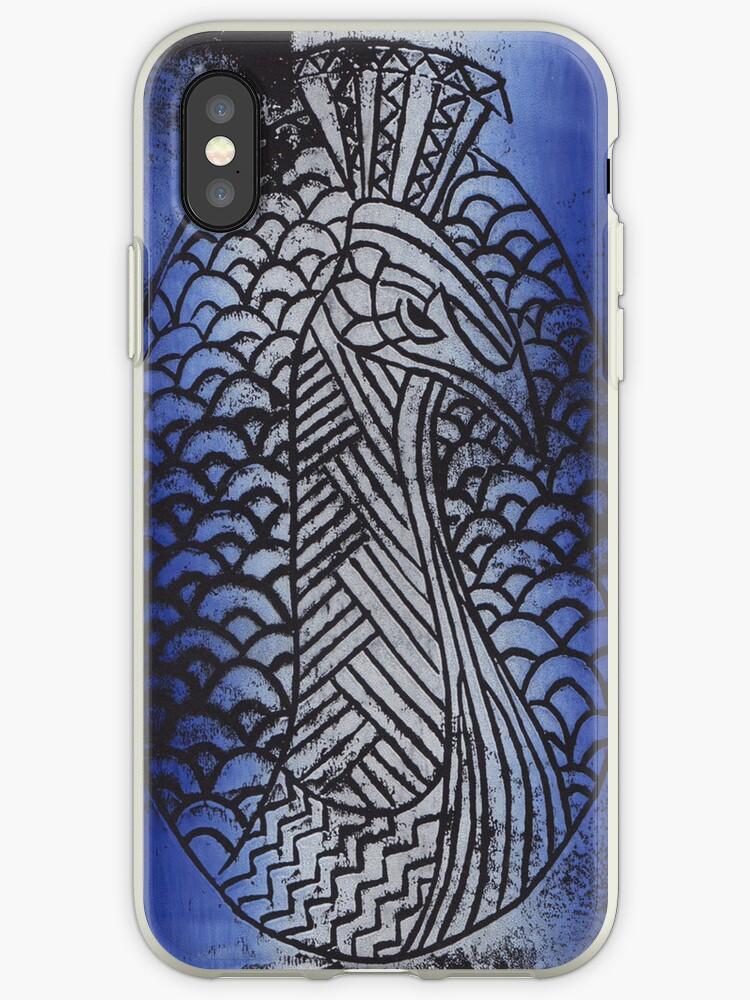 Lino Peacock by Jammybee