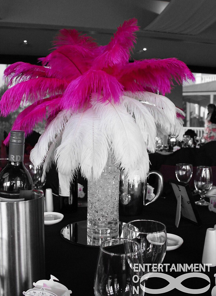Pink & White Centrepiece by Eon Entertainment