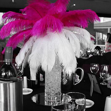 Pink & White Centrepiece by EonEnt