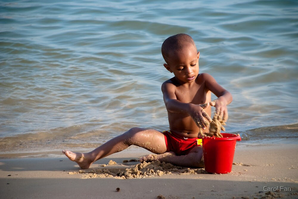 Playing with the Sand by Fan Fan