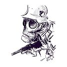 A Study in Purple: Gas Mask Sketch by tashatringale