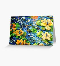 Lily Pond in Motion Greeting Card