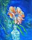 Flower Against Blue by Barbara Sparhawk