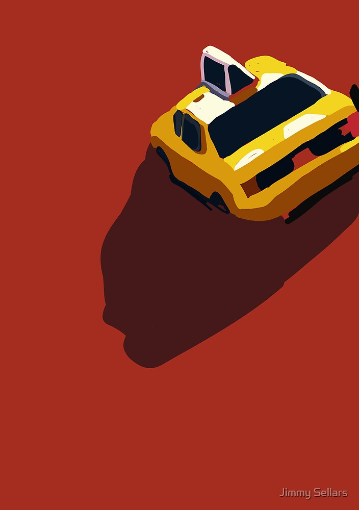 Red Taxi from the Migration Series by Jimmy Sellars