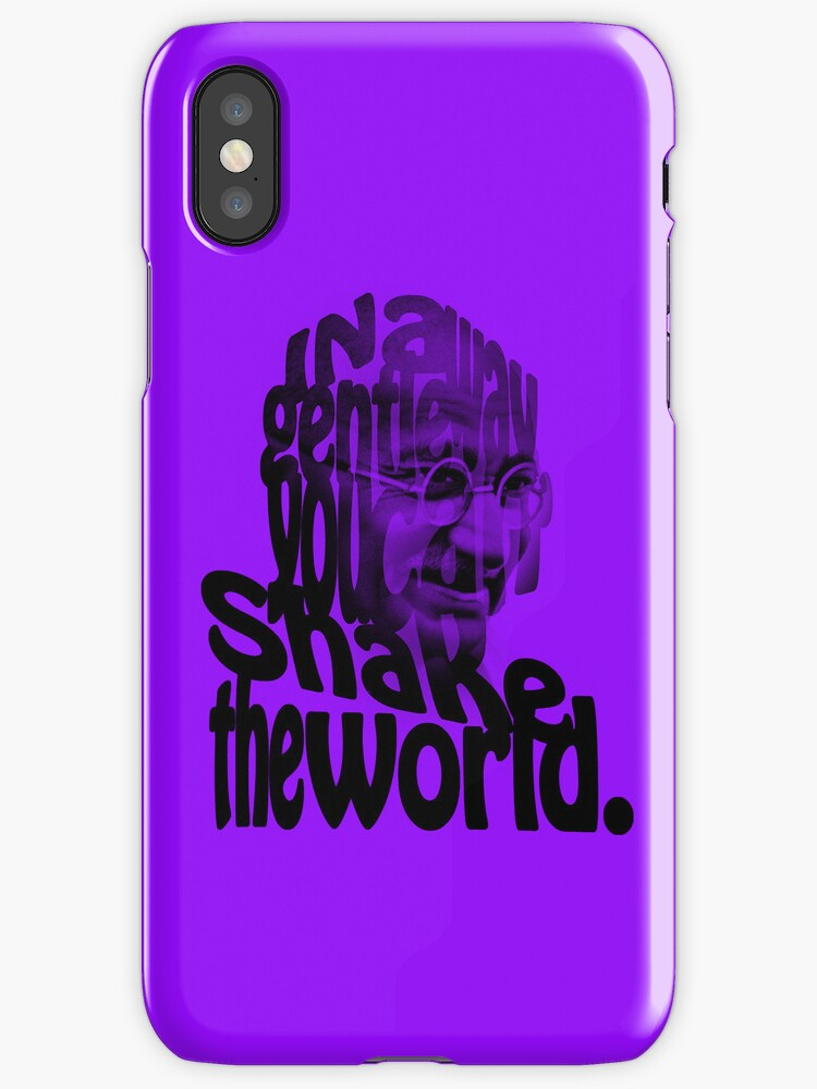 Gently Shake the World - Purple Cases by Neal Easterling
