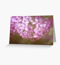 Painted Lilacs Greeting Card
