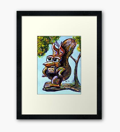 The only gay squirrel in the garden. Framed Print