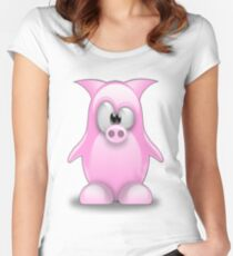 Piggy tux Women's Fitted Scoop T-Shirt