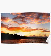 Sunset over Montagu Poster