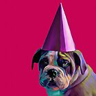 Pink Birthday Pup by Jennifer Gibson