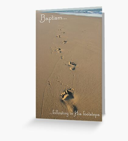 Footprints Baptism Card Greeting Card