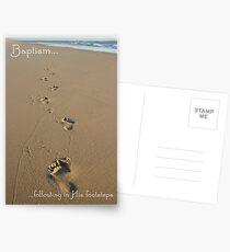 Footprints Baptism Card Postcards