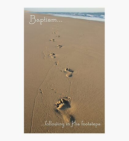 Footprints Baptism Card Photographic Print