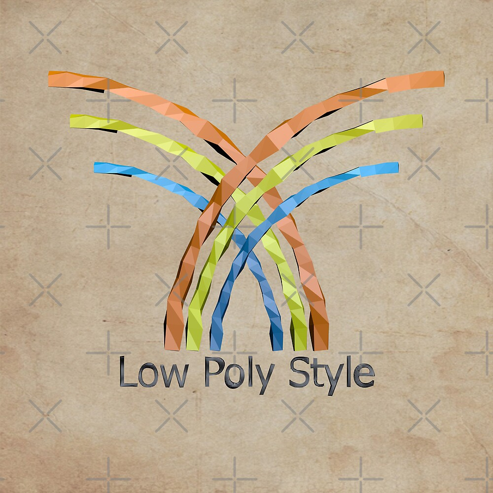 Logo low poly style by C4Dart
