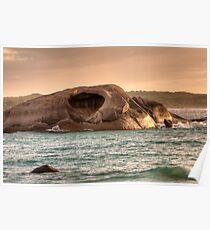 Cave Rock Twilight Beach Poster