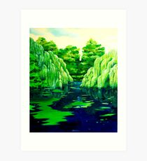 Green pond Art Print