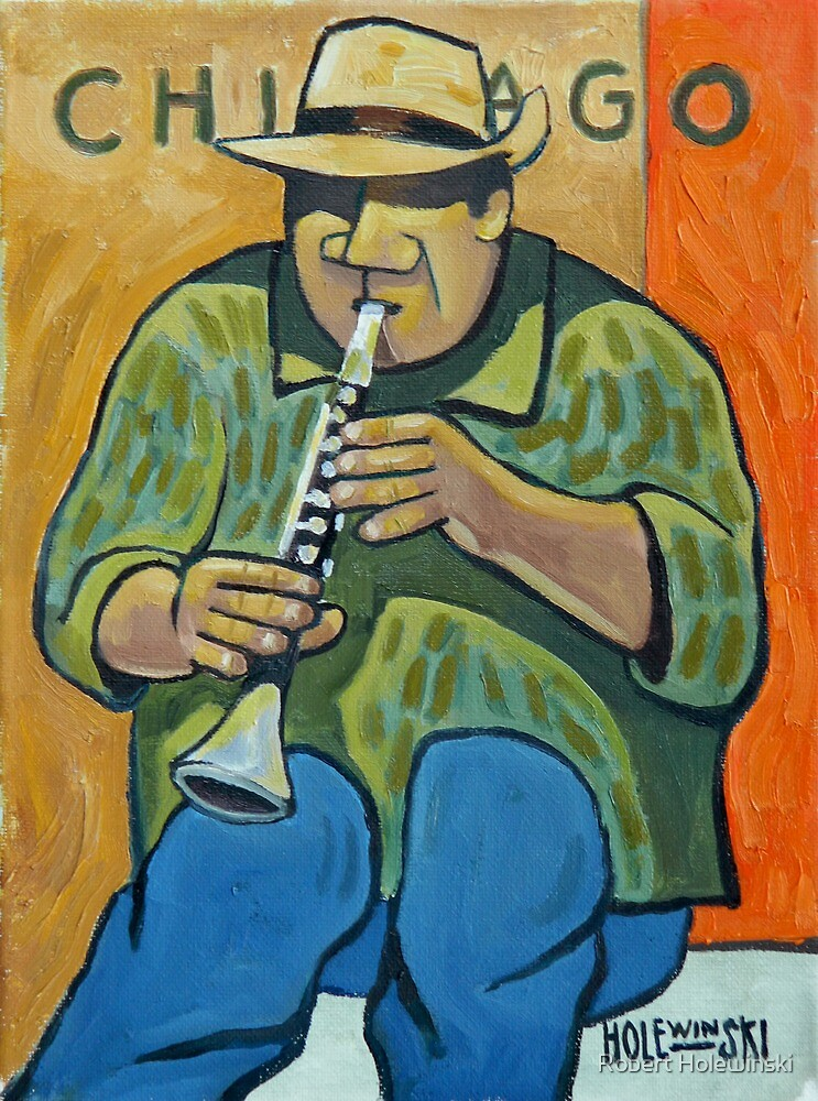 Chicago Jazz Man by Robert Holewinski