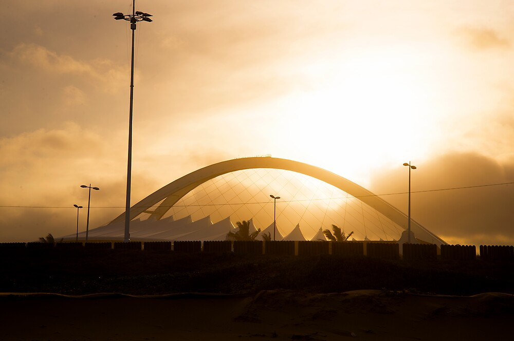 Moses Mabhida Stadium at Sunset by TheMadame
