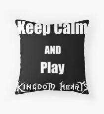 Keep Calm and Play Kingdom Hearts Throw Pillow