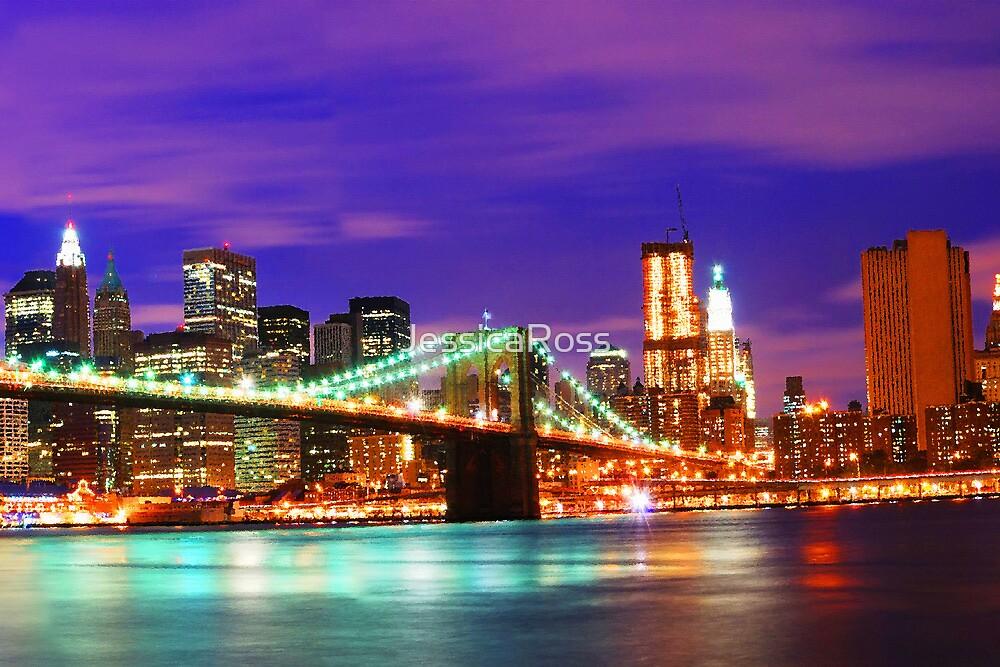 New York City Purple Skyline by JessicaRoss
