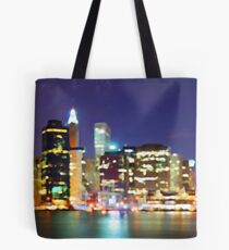 New York City Colorful Skyline Tote Bag