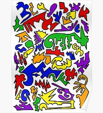 Urban Chaos Colorful Poster