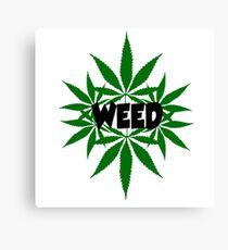 weed ganja  smoke for rasta Canvas Print