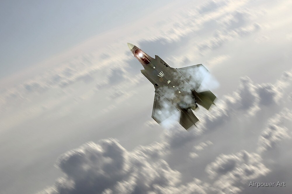 F-35 Climb by Airpower Art