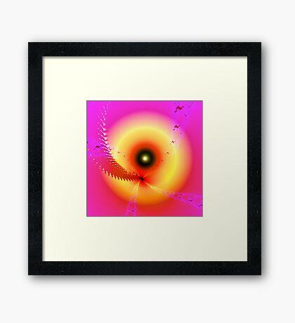 Fractal Eyeball Framed Print