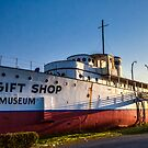 historic boat museum  by Jeannie Peters