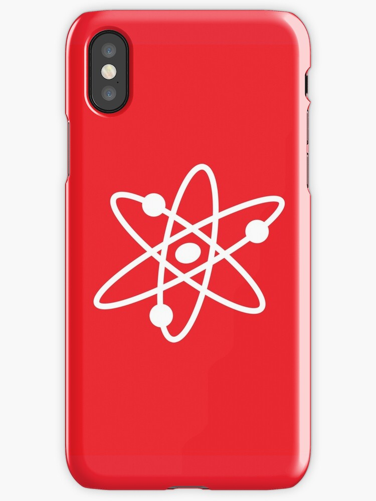 The Big Bang Theory Atom Logo 2 In White Iphone Cases Covers By