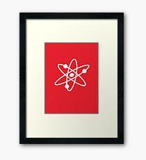 The Big Bang Theory Atom Logo 2 (in white) Framed Print