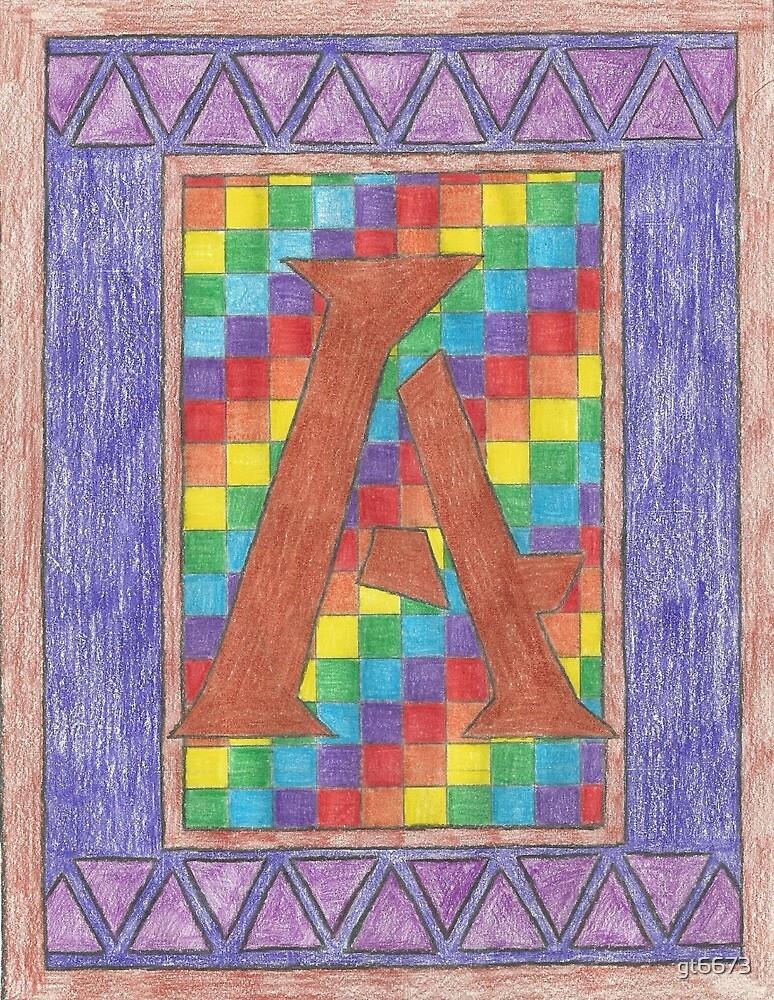Monogram A - Pride by gt6673