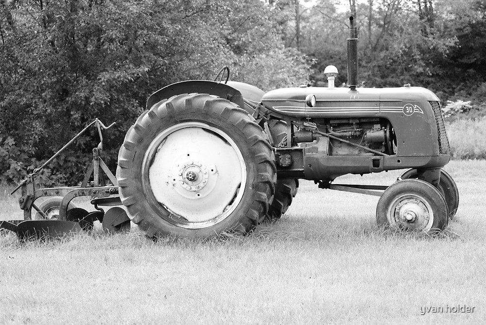 vintage tractor by yvan holder