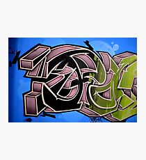 Graffiti up close  Photographic Print