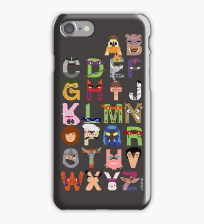 Teenage Mutant Ninja Turtle Alphabet iPhone Case/Skin